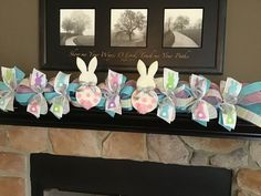 Shop Spotlight – Swags by Kari – Building Our Happily Ever After Mantle Garland, Deco Mesh Garland, Fireplace Decorations, Easter Flower Arrangements, Easter Flowers, Easter Garland, Easter Wreaths, Easter Crafts, Easter Decor
