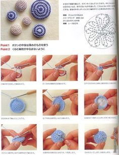 Crochet Buttons - Tutorial