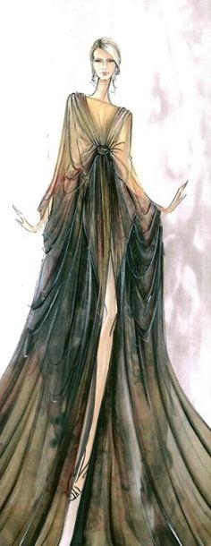 Elie Saab Fashion Illustration