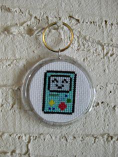 Adventure Time Beemo Cross Stitch Keychain by WistfulBird, $10.00