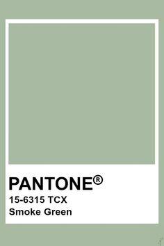 Pantone Smoke Green - All About Pantone Verde, Paleta Pantone, Pantone Swatches, Pantone Colour Palettes, Color Swatches, Pantone Color, Pantone Tcx, Colour Pallete, Wall Colors