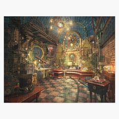Steampunk City, Steampunk Interior, Steampunk House, Steampunk Theme, Fantasy Rooms, Fantasy House, Fantasy Art, Landscape Concept, Fantasy Landscape