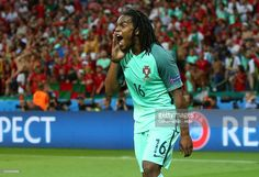 Renato Sanches of Portugal shouts during the UEFA Euro 2016 semi final match between Portugal and Wales at Stade des Lumieres on…