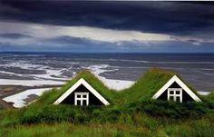 Casas con tejado de turba en #Islandia #Iceland