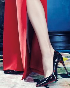 Christian Louboutin Pigalle Follies Flecked Red Sole Pumps. Exclusively at NM. #TrulyNM