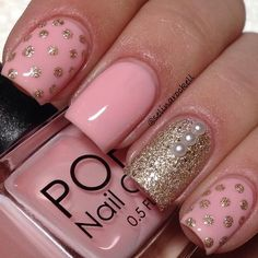cute nail Art designs 2016 for women - style you 7 Get Nails, Fancy Nails, Trendy Nails, Pink Nails, Hair And Nails, Nail Art Designs 2016, Cute Nail Art Designs, Nail Design, Salon Design