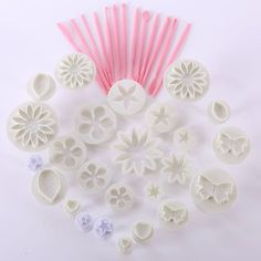 47pcs Sugarcraft Cake Decorating Fondant Icing Plunger Tools Mold Mould Free Shipping