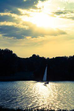 Sunset Sailing - Aasee, Münster Germany