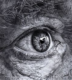 Meral muhammad is 14 years old girl which produced some amazing drawing for Realistic Eye Drawing, Hyper Realistic Paintings, Old Man Portrait, Portrait Art, Portrait Photography Men, Eye Photography, Pencil Art Drawings, Art Drawings Sketches, Eye Drawings