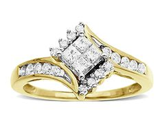 http://bridaljewelleryset.com/princess-cut-bridal-ring-set-2/ 1/2 ct Princess – Cut Bridal Diamond Ring Set in 10K Gold
