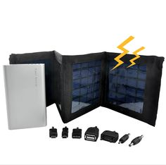 Portable Solar Charger and Battery - 4000mAh, Foldable Panels Price: $39.75