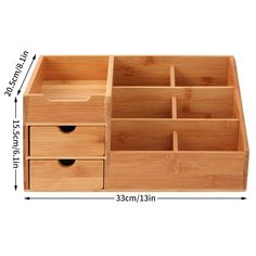 Homode Makeup Organizer, Bamboo Wood Vanity Countertop Organizer Cosmetic Jewelry Storage Tray with Drawers for Bathroom Wooden Makeup Organizer, Makeup Storage Box, Cosmetic Storage, Countertop Organization, Desktop Organization, Makeup Organization, Diy Pallet Projects, Wood Projects, Woodworking Projects
