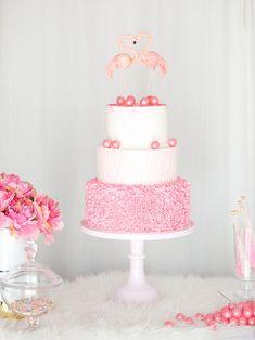 Pink Gum Ball Flamingo Wedding / Party Cake!
