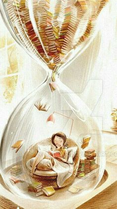 So many books, so little time. That's it in a nutshell, or should I say an hourglass! So many books, so little time. That's it in a nutshell, or should I say an hourglass! Reading Art, Reading Time, Reading Books, Cute Wallpapers, Book Worms, Book Lovers, Good Books, Fantasy Art, Book Art