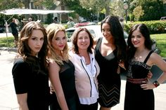 Troian, Ashley, Marlene King, Shay and Lucy