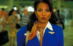 # 4 Pam Grier as Jackie Brown in Jackie Brown - The 20 Hottest Women in Quentin Tarantino Movies Quentin Tarantino, The Hateful Eight, Inglourious Basterds, Melanie Laurent, Uma Thurman, Sharon Tate, Diane Kruger, Pam Grier Jackie Brown, Jackie Brown Film