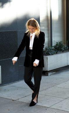 modern feminine tuxe