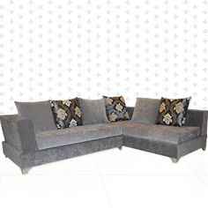This contemporary L- shaped sofa set is a classy addition to your indoor furniture setting. Rich and classy in appearance, this sofa set is a true charmer.