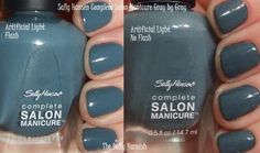 """this is my new favorite polish. """"gray by gray"""" by sally hansen. around 4 dollars at walmart. love the applicator and the coverage is great even if you only have time to just do one coat."""