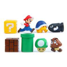 2-3cm Super Mario Bros Mini Action Figure Toys Mario Luigi Yoshi PVC  Children G #Unbranded