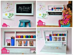 Wall desk for kids