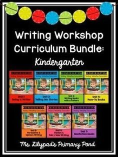 This yearlong bundle of narrative, opinion, and informational writing lessons for Kindergarten makes it easy to plan your writing instruction! Also included are posters, visuals, and writing rubrics to save you time. | Learning at the Primary Pond Writing Mentor Texts, Persuasive Writing, Writing Rubrics, Informational Writing, Opinion Writing, Writing Posters, Writing Programs, Paragraph Writing, Fiction Writing