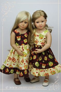 IMG_7774 - Swish & Swirl - Owl dresses for Kidz n Cats dolls