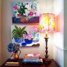 Lovely little vignette from Anna Spiro. Decor, Colorful Interiors, Wall Decor, Interior Inspiration, Eclectic Decor, Beautiful Interiors, Decor Styles, Boho Decor, Anna Spiro