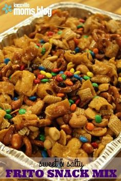 Sweet and salty Frito snack mix is the perfect snack for the Super Bowl. Check out this easy recipe and be prepared to make everyone happy at the big game!