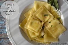 Ravioli Recipe with Sage Butter Sauce - Easy Weeknight Suppers!