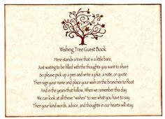 Wedding Wish Tree Sign | ... Wedding Wish Tree Tags / Advice Cards Instruction Sign - Elegant Tree