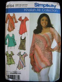 Simplicity Womens Tunic Top Shirt Sewing Pattern 4164 by Vntgfindz, $7.00