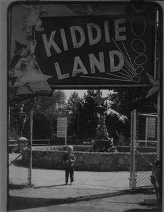 The entrance to Kiddie Land, the kiddie ride section of Joyland Amusement Park - Wichita, KS, ca. 1960