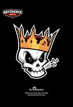 Skull mascot design for reference love skulls get your skulls. Skull Logo, Skull Art, Logo Esport, Graffiti Characters, Crown Logo, Graffiti Drawing, Mascot Design, Game Logo, Skull Design