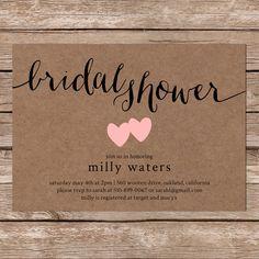 Rustic Bridal Shower Invite, Printable Bridal Shower Invites Printable, Bridal  Invitation, Bridal Shower, Wedding Shower, Lingerie Party | Rustic Bridal  ...
