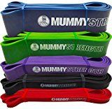 Powerlifting Bands Wishesport Pull Up Assist Band Mobility Band SINGLE BAND or SET Extra Durable and Top Rated Pull-Up Assist Bands Stretch Resistance Band