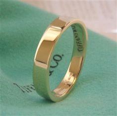 TIFFANY & Co. 18K Yellow Gold 4mm Wedding Band Ring
