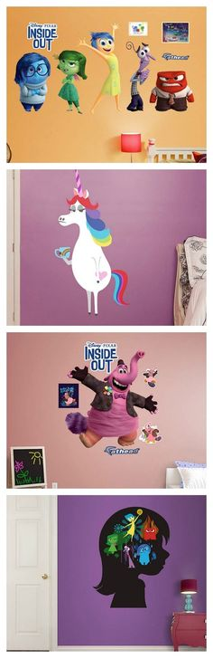 Decorate your home for an Inside Out party with these impressive wall decals.