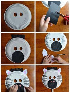 tiermasken basteln diy anleitung einfach