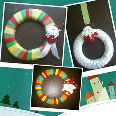 Coronas navideñas para adornar tus puertas!!