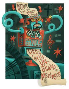 Steve Simpson's work has a unique retro style mixed in with vintage color schemes. Sit back and admire his illustration portfolio. Magazine Illustration, Digital Illustration, Illustration Styles, Dublin, Chiara Bautista, Rap Genius, Vintage Color Schemes, Illustration Techniques, Design Graphique