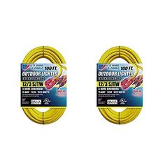 US Wire 12/3 Sjtw 100-Foot Outdoor Lighted Extension Cord
