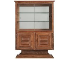 Art Deco Vitrine Cabinet in Oak | From a unique collection of antique and modern vitrines at https://www.1stdibs.com/furniture/storage-case-pieces/vitrines/