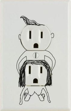 The most sexually perverted electrical outlet ever seen. Haha made me laugh Haha Funny, Funny Stuff, Funny Shit, Funny Things, Crazy Things, Random Things, Random Stuff, Funny Today, That's Hilarious