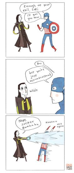 The Avengers    Steve Rogers (Captain America) and Loki