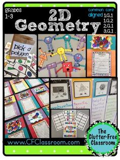 This packet contains over 100 pages of materials to use when teaching students about 2-dimensional geometry. I created them to use with my 3rd grade students and second grade son to make math creative and fun.