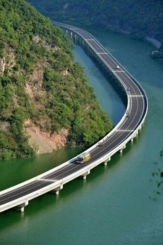 New route connects Xingshan County in Hubei to a high-speed motorway. It cuts an hour& journey to just 20 minutes and there& great views en route. It officially opened on August Beautiful Roads, Beautiful Places, Places To Travel, Places To See, Dangerous Roads, Beau Site, Bridge Design, Covered Bridges, Chengdu