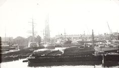 """Caption: """"Boats at Regent's Canal Dock"""""""