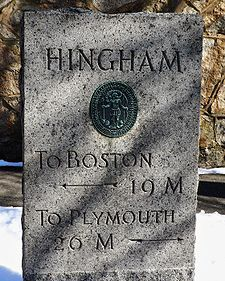 An old stone marker in Hingham–the home of the Talbot's and our corporate headquarters! Talk about a perfect location.