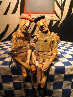 driftwood & found object puppets.